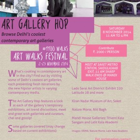 Art Gallery Hop / Sat 8 Nov. 2014