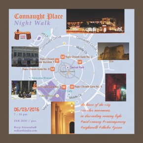Connaught Place Night Walk / Feb 18, 2017